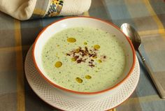 Chilled Cucumber Soup with Tapenade.