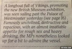 Vikings on the Thames (from The Times, UK)