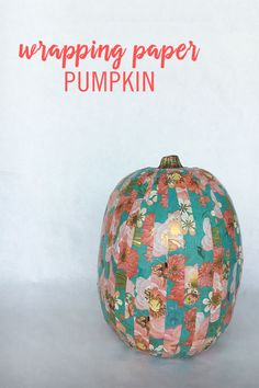 Use Wrapping Paper to Transform Your Pumpkin into a Work of Art