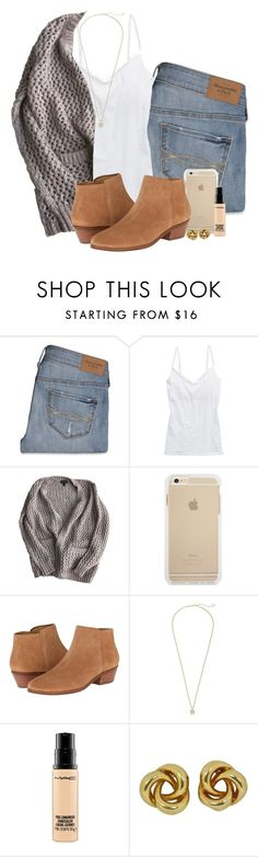"""""""Ootd// haircut """" by madelyn-abigail ❤ liked on Polyvore featuring Abercrombie & Fitch, American Eagle Outfitters, Topshop, Jack Rogers, Kendra Scott and MAC Cosmetics"""