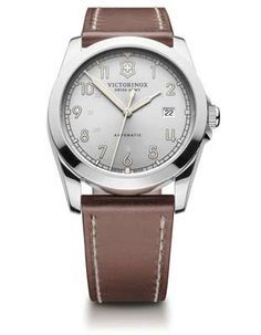 Victorinox Swiss Army Infantry Mens Automatic - Silver White Dial - Stainless