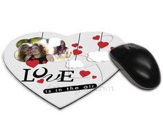 Tappetino mouse con grafica romantica