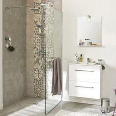 Paroi de douche à l'italienne Cube, profilé chromé, l. 88-89.5cm