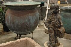 This amazing cauldron features a beautiful verdigris patina, and dates back to early-to- mid It is in excellent condition and would make a wonderful planter or water feature. Copper Planters, Planter Pots, Cauldron, Antique Copper, European Fashion, Water Features, Garden Landscaping, Art Pics, Landscape