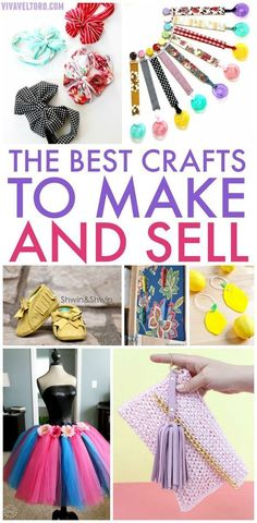 Do something you enjoy and turn a profit! Here are the BEST crafts to make and sell online or at local craft fairs to earn extra money. to make and sell diy extra money 21 Amazing Crafts To Make and Sell Diy And Crafts Sewing, Diy Crafts To Sell, Easy Crafts, Arts And Crafts, Selling Crafts, Make To Sell, Sewing Projects, Handmade Crafts, Handmade Headbands