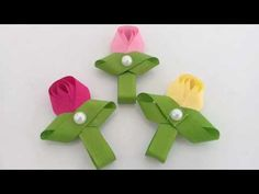 Flor tulipa com fita de gorgurão n°2 |Suh Bessone - YouTube