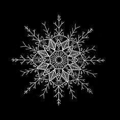Snowflake Mandala Art Print by lhayton | Society6