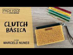 Clutch Básica e Fácil de Fazer de Crochê por Marcelo Nunes - YouTube Crochet Handbags, Crochet Stitches, Purses And Bags, Charts, Olsen, Knitting, Pattern, Crochet Bag Tutorials, Crochet Tutorials