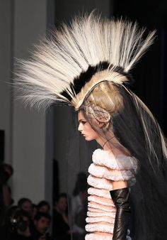 Jean Paul Gaultier Chooses Androgynous Male Model Andrej Pejic As His Spring 2011 Couture Bride Haute Couture Gowns, Body Adornment, Androgynous, Headgear, Headdress, Fashion Details, Timeless Fashion, Wearable Art, Fascinator