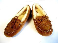 UGG Women's Mandie Slipper Shoe Driving Moc Chestnut Size 9 Sheep Shearing Lined #UGGAustralia #SlipperShoes