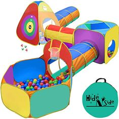 Amazon.com: indoor gym for toddlers First Birthday Activities, Birthday Gifts For Boys, Play Tent And Tunnel, Ball Pit Tent, Toddler Boy Gifts, Toddler Boys, Outdoor Toys, Indoor Outdoor, Indoor Gym