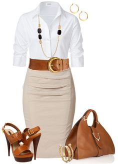 Great work outfit:  Super cute wihout the the heels!