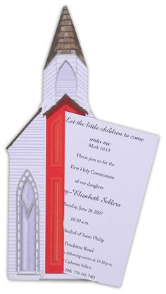Stevie Streck | Church Invitation | Polka Dot Design  #Communion