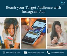 Let your Instagram Ads Drive Business! We can help run Ad campaigns automatically with popular, engaging and effective content. For enquires call us at +919884472565.  #onlinemareketing #instagramads #leadgeneration #digitalmarketing #deforay #deforaytechnologies Mobile App Development Companies, Mobile Application Development, Web Application, Mobile Web, Best Mobile, Seo Digital Marketing, Online Marketing, Ad Campaigns, Target Audience