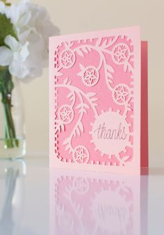 Floral Thank You Card. Make It Now in Cricut Design Space