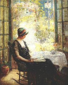 Pauline Palmer (American, 1867-1938) - From My Studio Window