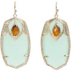 kendra scott chalcedony and tiger's eye earrings #mirabellabeauty #earrings