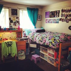 Dorm room. I want those plastic storage thing underneath