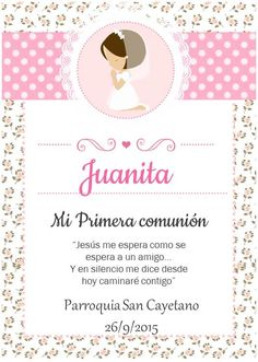 tarjetas para recuerdos de comunión Printable Box, First Communion Dresses, Art Projects, Baby Shower, Invitations, Frame, Party, Crafts, Wedding