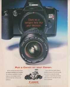 CANON camera Advertisement AD original magazine -Put a Canon on your Canon (rare)