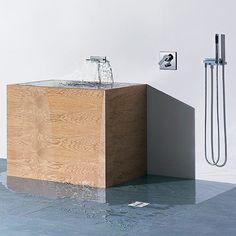 Wall mount bath faucet