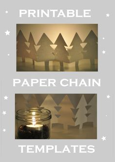 Tree Paper Doll Chain And Other Paper Crafts For Christmas Parties ...