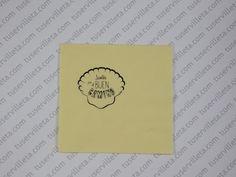 El trabajo de Servilletas Impresas Personalizadas el Buen Camino se ha realizado en tamaño  20×20 cm. (10×10 cm. cerrada) calidad 2 Capas, color Vainilla, impresión en Negro.