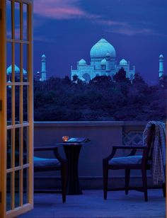 Gape in awe at the Taj Mahal on a moonlit night