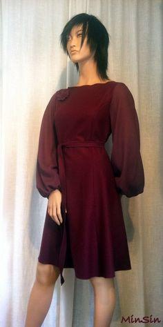 Produktbilde Cold Shoulder Dress, Chiffon, Clothes, Dresses, Design, Fashion, Silk Fabric, Outfits, Vestidos