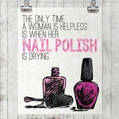 Cool nail polish and nail salon decor from Etsy!