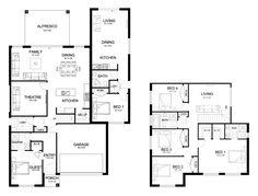 Evoque Dual 36 - granny-flats Level - Floorplan by Kurmond Homes - New Home Builders Sydney NSW