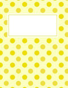 Yellow Polka Dot Binder Cover