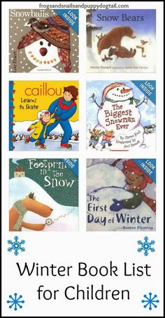 This winter book list for children provides many story books that can be used with a thematic unit over seasons. Students can read these stories or poems and then do a writing activity in response to the literature. AB