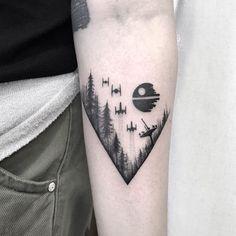 Death Star Tattoo, Tatoo Star, War Tattoo, Star Wars Tattoo, Tattoo On, Cover Tattoo, Forearm Tattoos, Body Art Tattoos, Small Tattoos