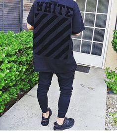 Off-White & Yeezys. Dope Fashion, Urban Fashion, Mens Fashion, High Fashion, Mode Streetwear, Streetwear Fashion, Boy Outfits, Fashion Outfits, Urban Outfits