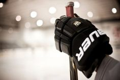 Nothing like wearing your own last name all over your equipment. Bauer Hockey <3
