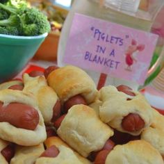 Food at Winnie the Pooh themed party.