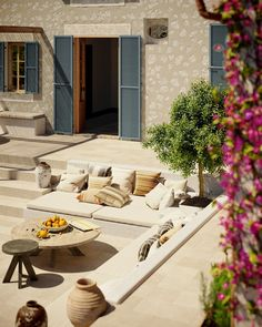 Canoneta Townhouse | A Luxurious Home on Mallorca With An Orchard - The Nordroom The Great Outdoors, Townhouse, Luxury Homes, Patio, Garden, Luxurious Homes, Garten, Terraced House, Terrace