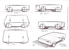 In order to start drawing cars, we must start from the drawing fundamental rules. We must understand them to draw a car correctly inside view and perspective.