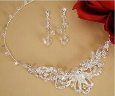 Silver Swarovski Crystal Jewelry Set