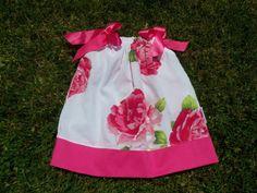 Girls Pillow Case Dress - Pink Floral