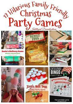 Fun Christmas Party Ideas, Christmas Party Activities, Xmas Games, Christmas Bingo, Christmas Games For Family, Holiday Party Games, Holiday Parties, Christmas Holidays, Minute To Win It Games Christmas