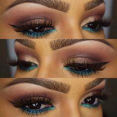 Brown pink blue