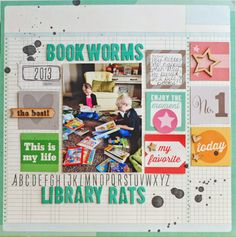 #papercraft #scrapbook #layout.  Elle's Studio NSD Celebration - Layout by Becki Adams