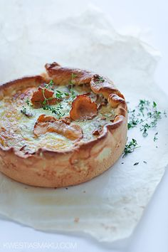 chanterelle mushroom tart...gloriously rustic. Chanterelles are one of my all time favorite foods.