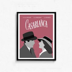 Our collection of minimalist posters inspired by movies we love. Feminist Movies, Casablanca Movie, All Poster, Movie Posters, Movie Prints, Romantic Movies, Minimalist Poster, Classic Movies, Wall Art Decor