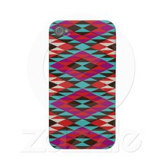 Pink Desert Native American Pattern iPhone4 case Iphone 4 Case from Zazzle.com