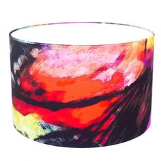 Add a bold statement to your interior with this abstract lampshade aptly named 'Storm'. The glorious rich colours are infused with movement and energy and will prove a wonderful statement piece in andy setting. Interior Lighting, Interior And Exterior, Shades, Colours, Abstract, Design, Home Decor, Summary, Shutters