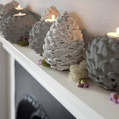 limed artichoke tealight or spruce cone by rowen & wren | notonthehighstreet.com