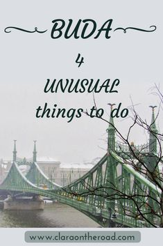 Buda is a very fascinating area of Budapest, it's such a pity that not everyone can appreciate its beauty. Let's find out 4 unusual things to do in Buda.